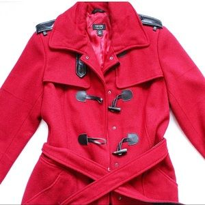 Jackets & Blazers - Red double breasted pea coat